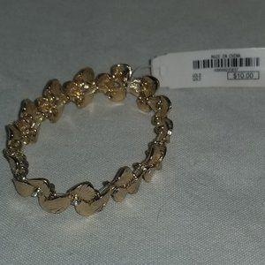 NWT Gold Colored Flower Bracelet